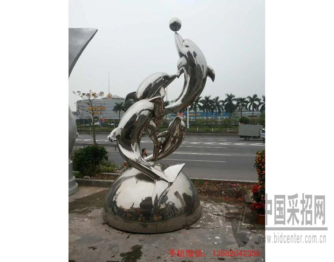 动物不锈钢雕塑,海豚不锈钢雕塑制作公司